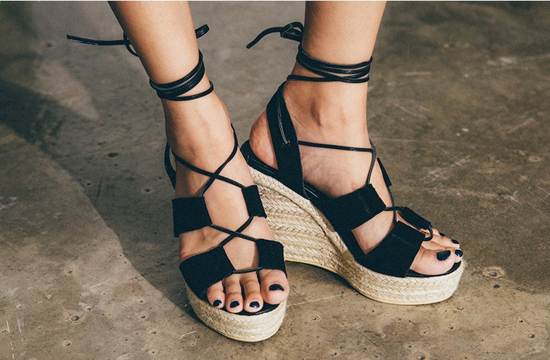 Strap Point Wedges by MOSSBEAN
